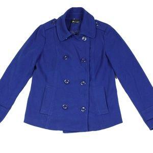 Ladies' Forever 21 Pea coat Size M Blue